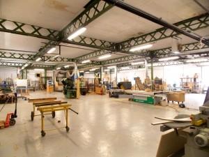Atelier de production et parc machines de la Menuiserie Antouly
