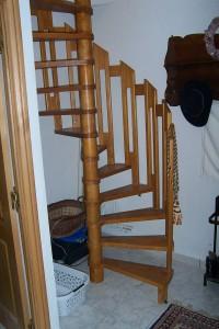 Escalier tournant détail