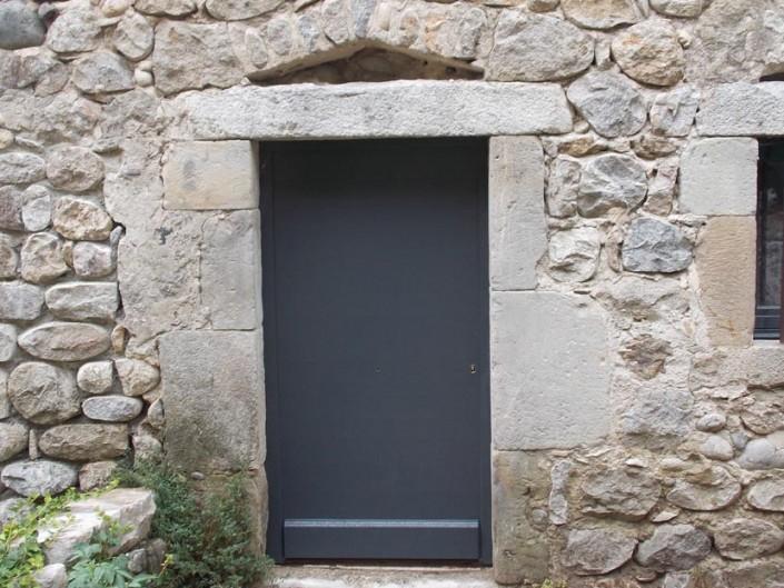 Porte menuiserie mixte